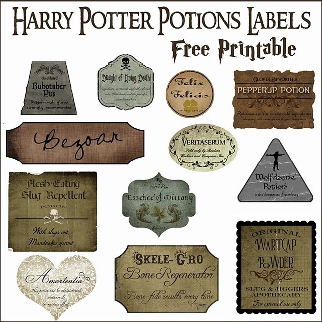 Harry Potter Printables Printable Set