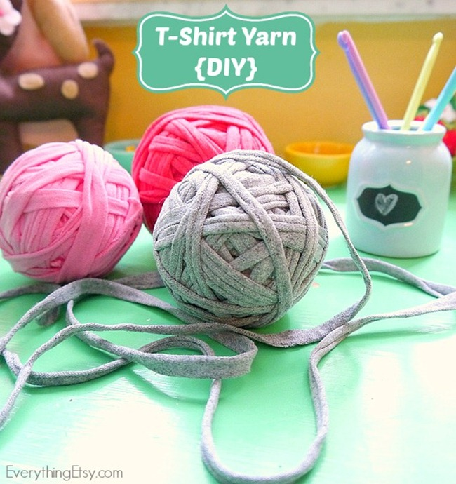 T-shirt Yarn DIY on EverythingEtsy.com