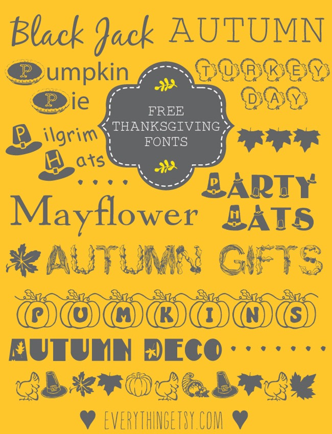 Thanksgiving-Fonts