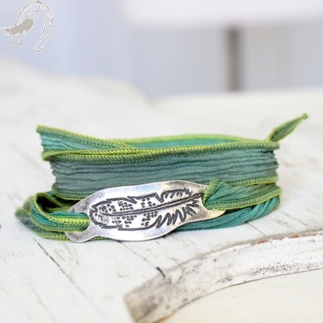 horsefeathers feather bracelet