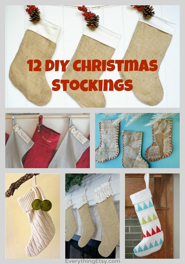12 DIY Christmas Stockings - Handmade Holiday Inspiration on EverythingEtsy.com