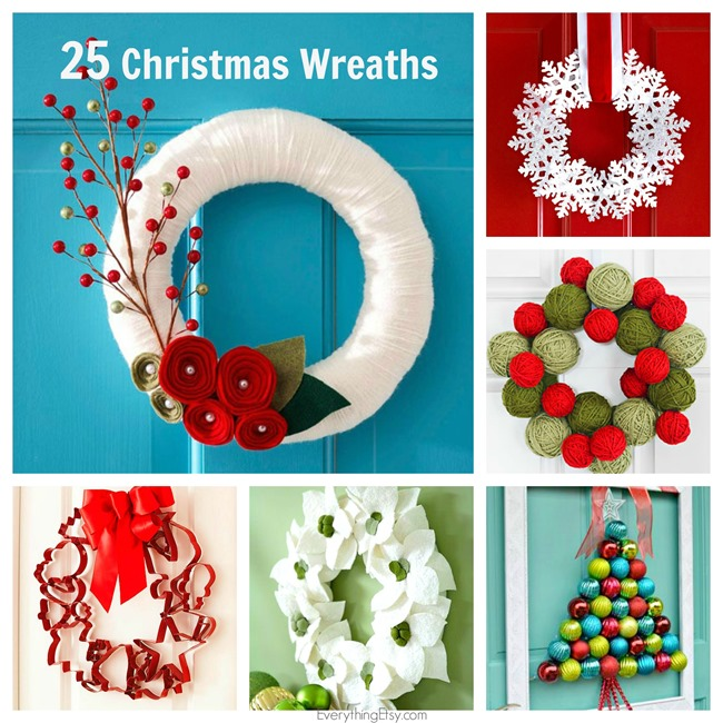 25 Christmas Wreaths - DIY Holiday Decorating on EverythingEtsy.com