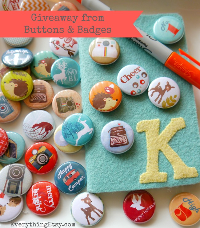 Buttons & Badges Giveaway on EverythingEtsy.com