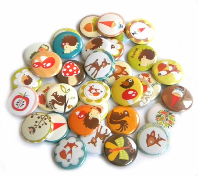 Buttons & Badges - woodland