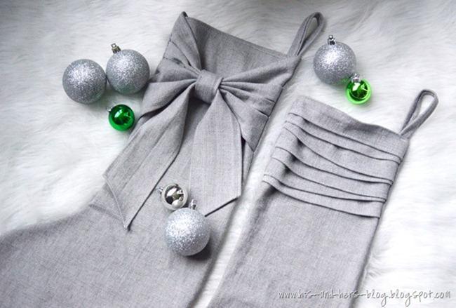 DIY stockings - bow
