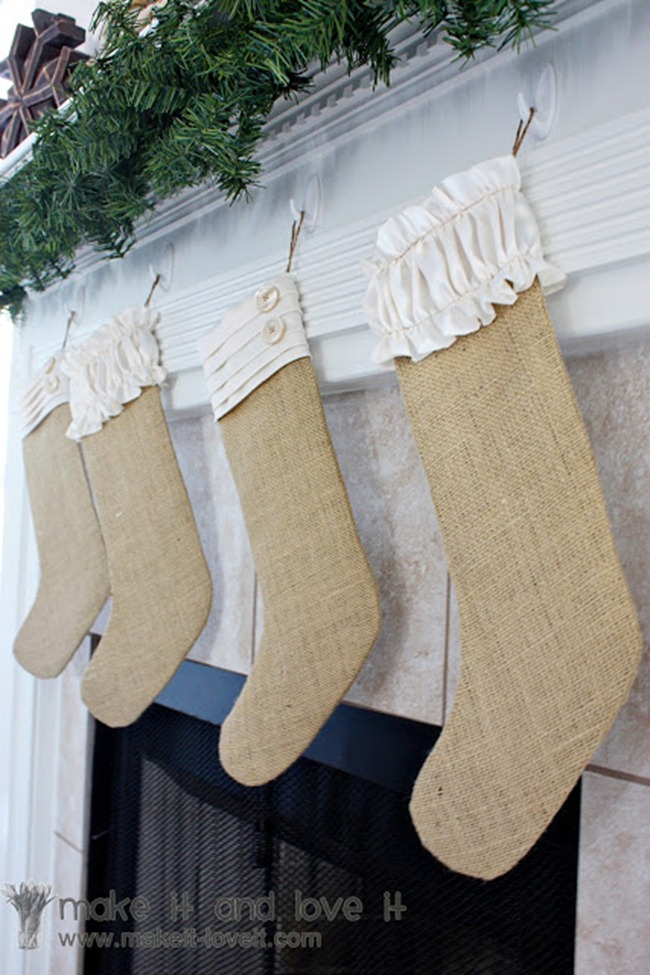 DIY stockings - burlap