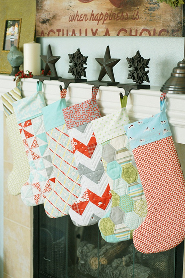 DIY stockings - quilted