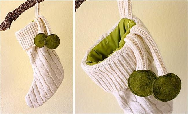 DIY stockings - sweaters
