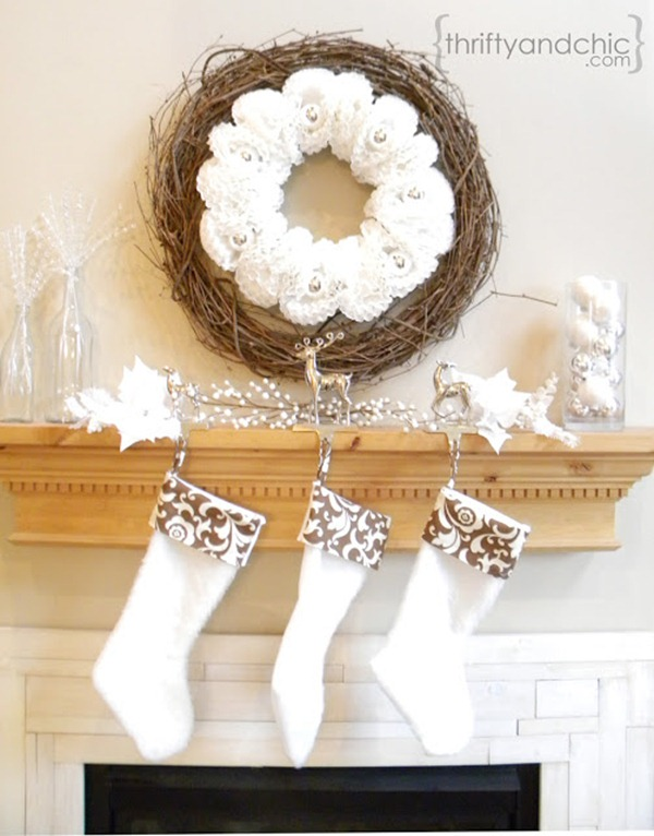 DIY stockings - winter white