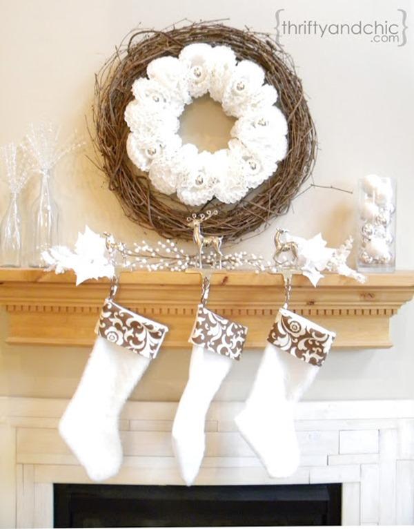 DIY stockings - winter white
