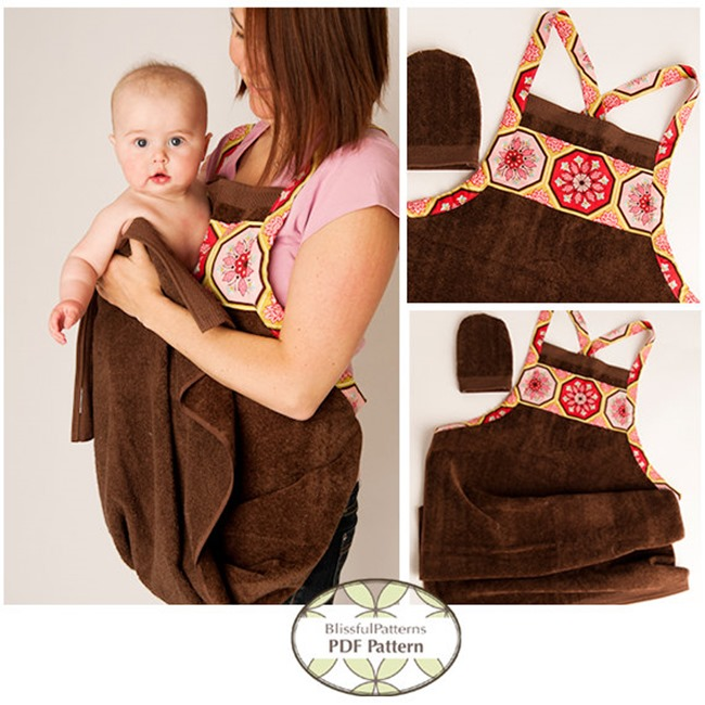 Everything Etsy Holiday Gift Guide - Baby Bath Apron Towel
