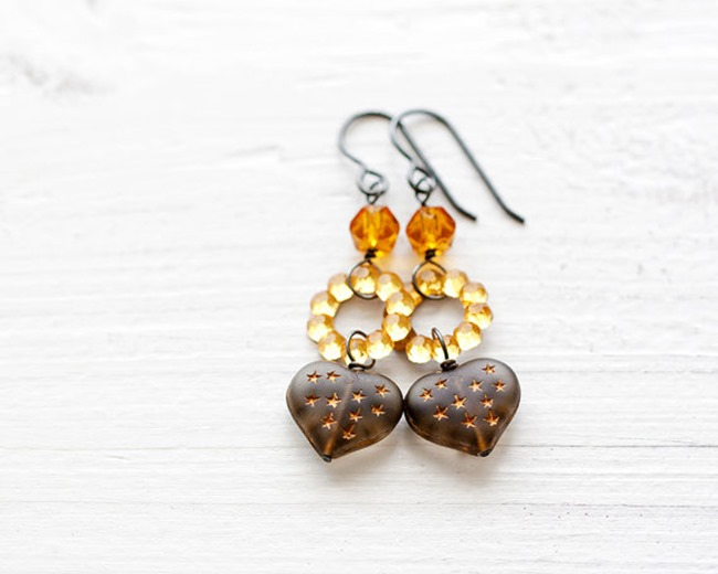 Everything Etsy Holiday Gift Guide - Yellow Earrings