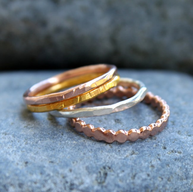 Everything Etsy Holiday Shopping Guide - Stacking Rings