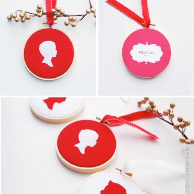 Handmade Silhouette Ornament - DIY Gift