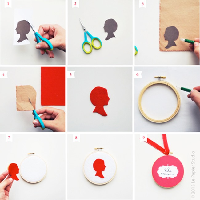 Handmade Silhouette Ornament Tutorial