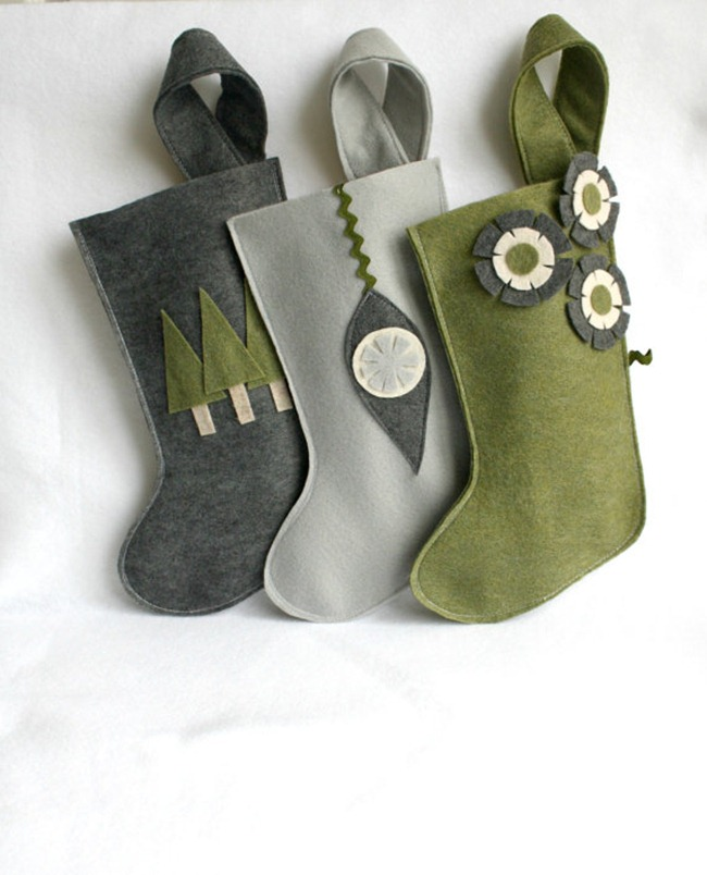 Holiday Gift Guide - Christmas felt stockings - RikRak