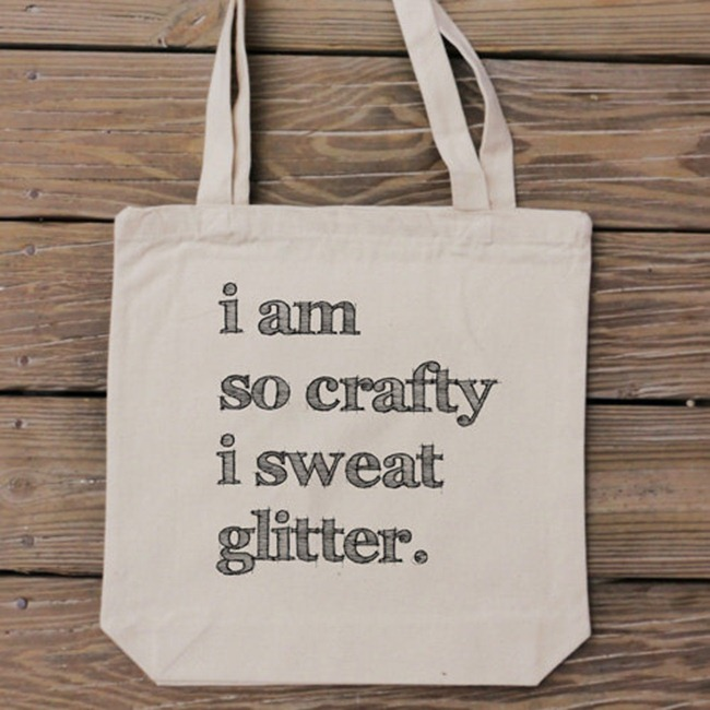 Holiday Gift Guide - I am so crafty tote bag - HandmadeandCraft on Etsy