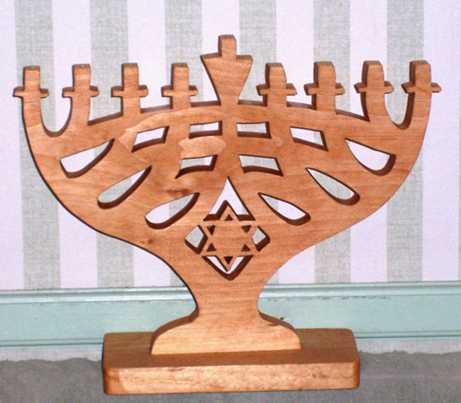 Holiday Gift Guide - Wooden Menorah
