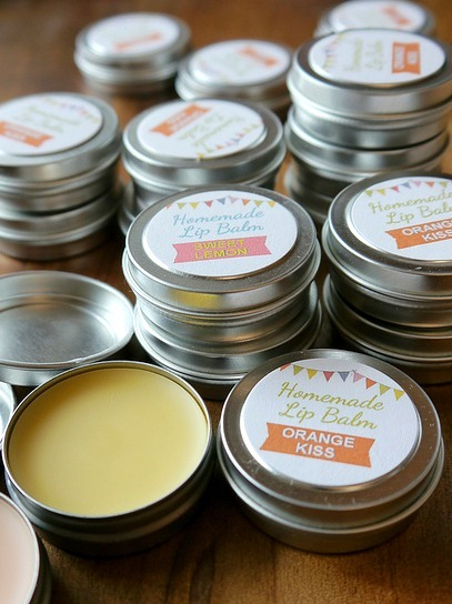 Homemade Lip Balm - DIY Christmas Gifts