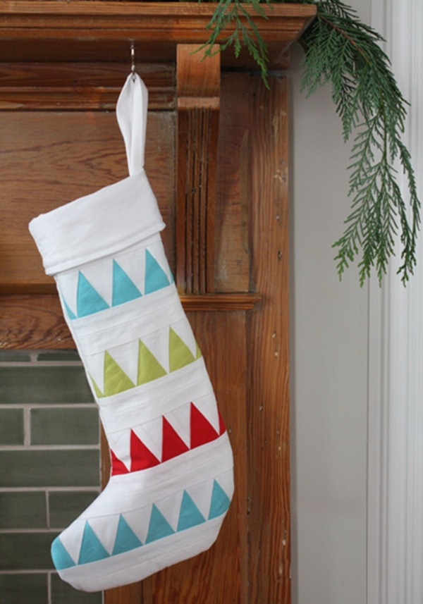Quilted Christmas Stocking - Long Thread
