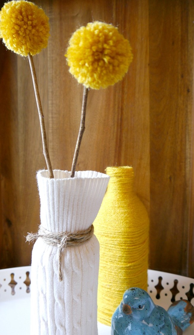 Sweater Vase {DIY Decor} end