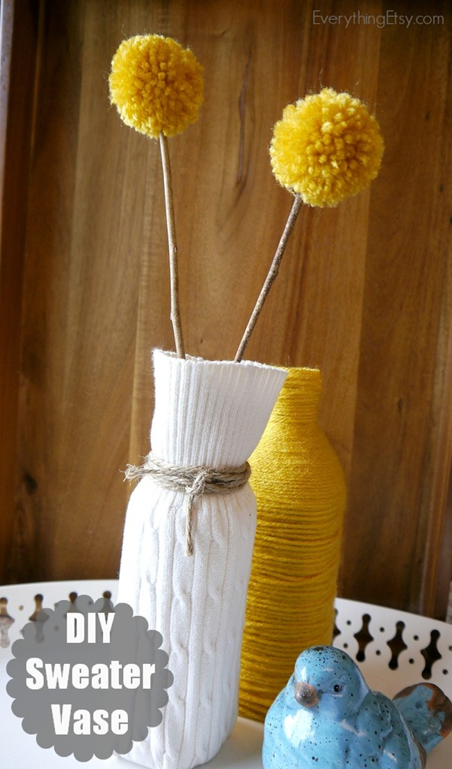 Sweater Vase {DIY Decor} final photos