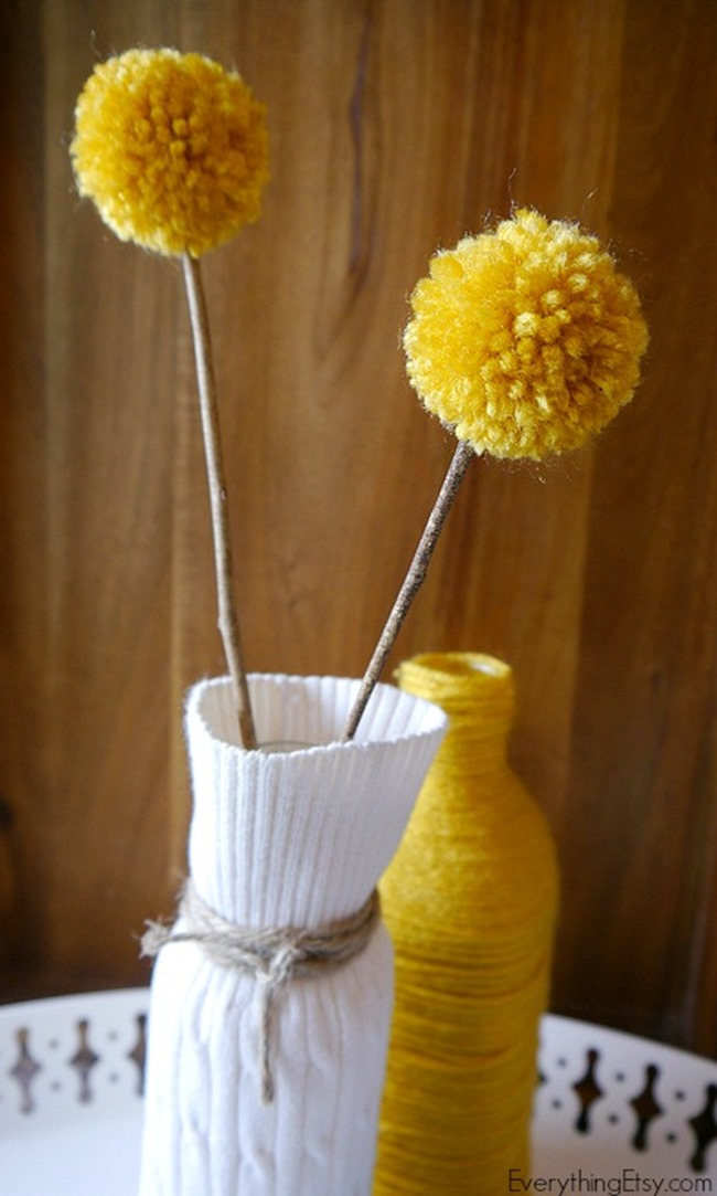 Sweater Vase {DIY Decor} finished