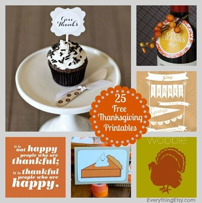 Thanksgiving Printables - Free Ones!