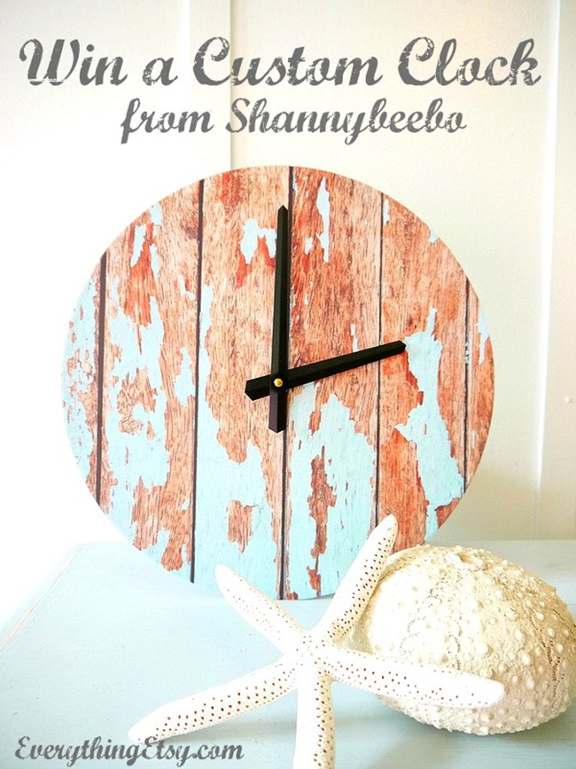 Win a custom clock from Shannybeeboo on EverythingEtsy.com - Click here to enter!