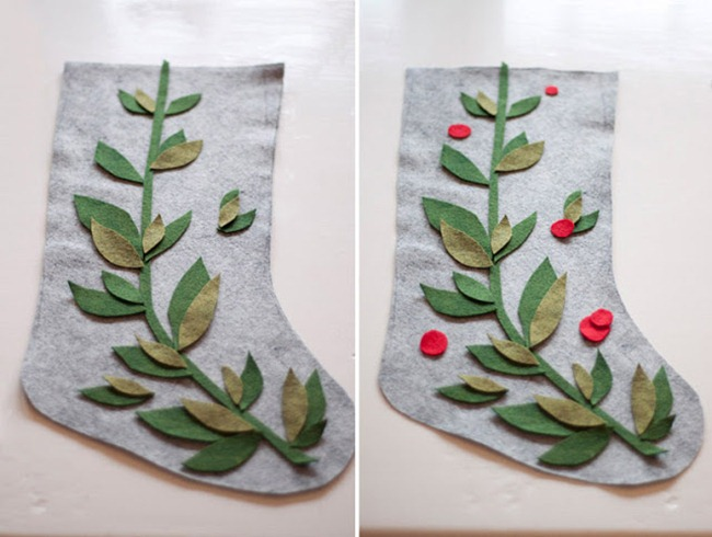 diy stockings - felt
