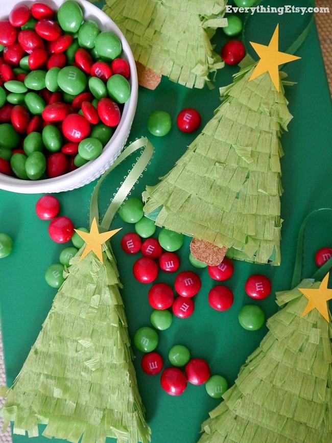 Christmas Tree Pinata Ornaments on EverythingEtsy.com