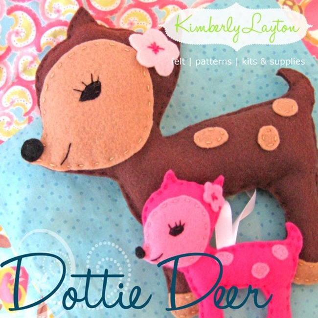 Felt Deer Ornament Pattern - Handmade and Craft on Etsy