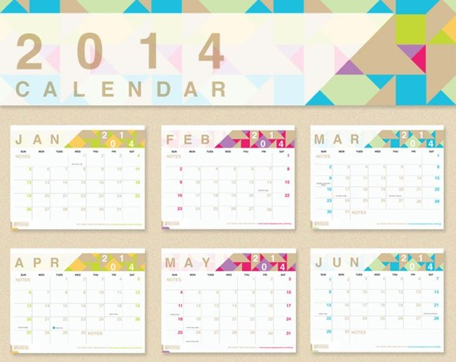 Free Printable Calendar for 2014 - Botanical PaperWorks