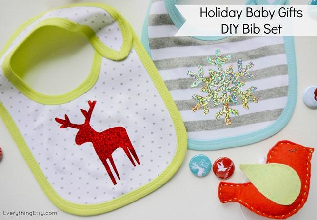 Handmade Baby Gifts–Holiday DIY Bib Set - EverythingEtsy.com