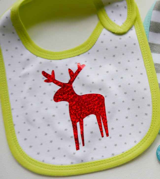 Holiday baby bib project