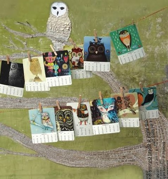 Owl Calendar - Free Printable - My Owl Barn