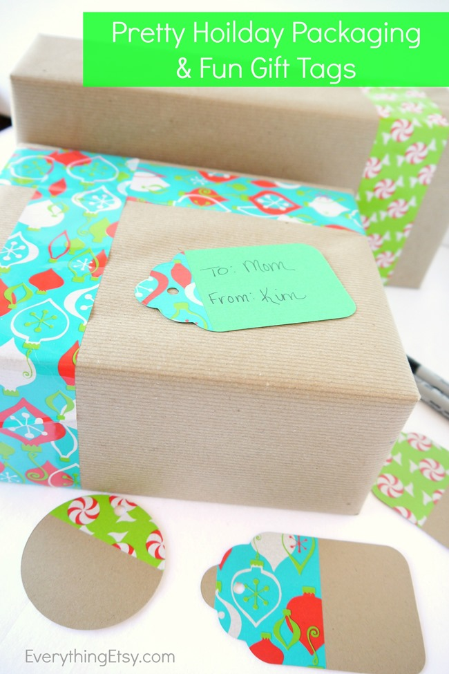 Pretty Holiday Packaging & Fun Gift Tags