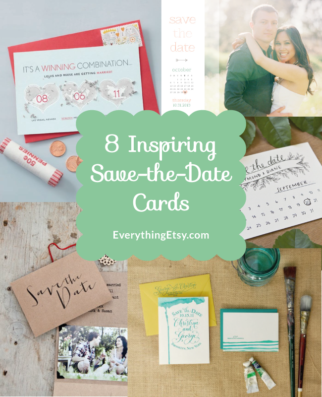 8 inspiring save the date cards diy weddings everythingetsy 8 inspiring save the date cards wedding diy ideas on everythingetsy junglespirit Gallery