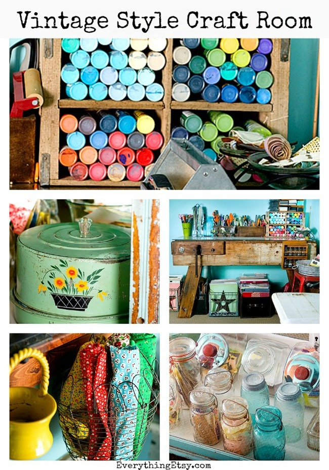Craft Room - Vintage Inspired - Kendra McCraken on EverythingEtsy.com