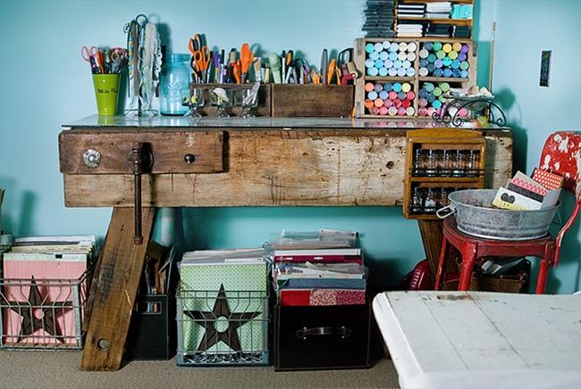 Craft Room   Vintage style. Craft Room Vintage Style