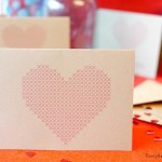 Heart Cross Stitch Cards – Free Printables