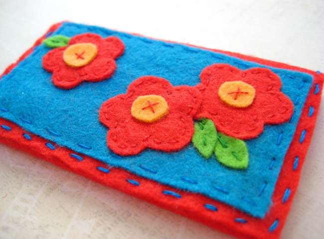DIY Business Card Holder - Felt - EverythingEtsy