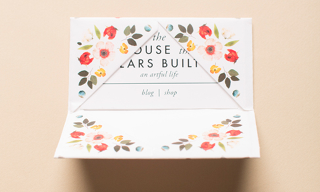 diy business card holder printable from the house that lars built - Diy Business Card Holder
