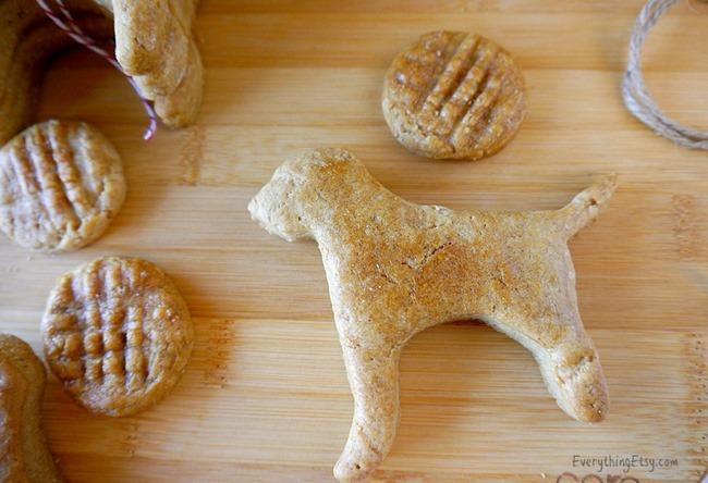 Homemade Dog Treats - Peanut Butter Cookie Recipe
