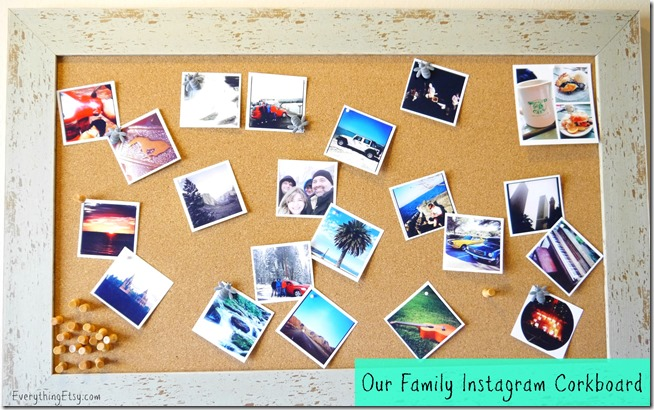 Instagram Corkboard - 25 DIY Instagram Craft Ideas on EverythingEtsy.com