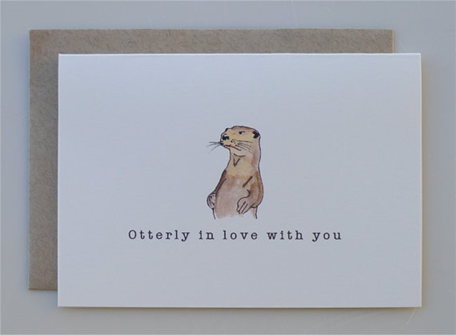 Valentine's Day Cards - Otter