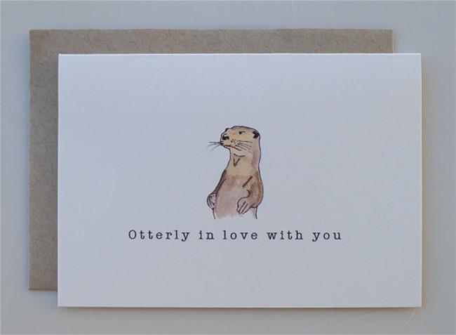 Valentine's Day Cards - Otter