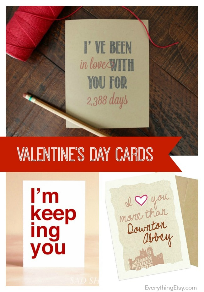 valentines day cards on etsy - Etsy Valentines Cards