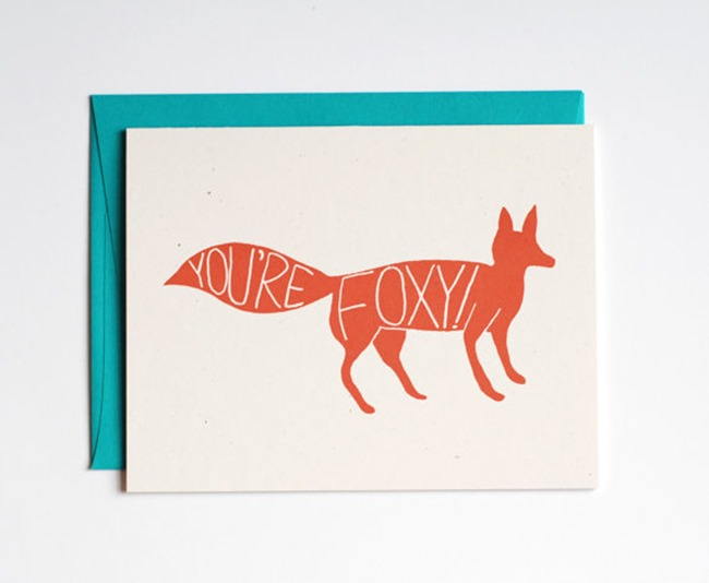 Valentine's Day Cards on Etsy - Foxy