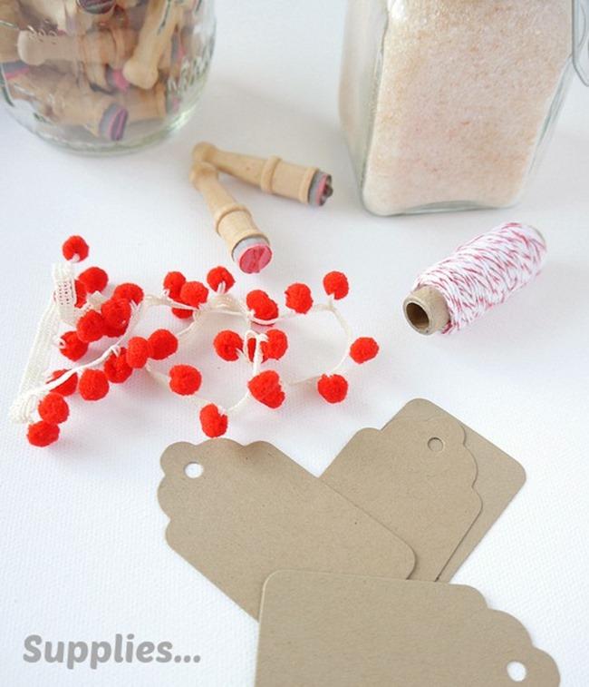 Valentine's Day Mini Pom Pom Gift Tag Supplies